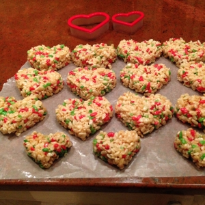 Valentine Rice Crispy Treats for Loved One with Allergies