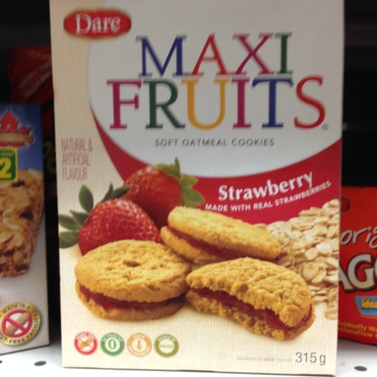 Dare Maxi Fruit Cookies Peanut Free