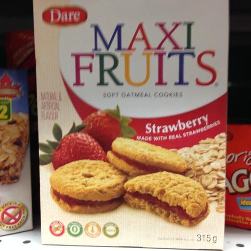 Dare Maxi Fruit Cookies Peanut Free